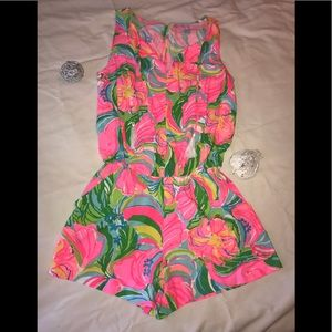 Lilly Tybee Sleeveless Romper Pink Franconia